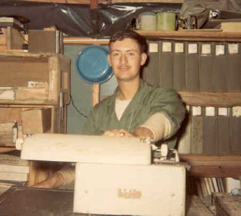 COURTESY PHOTO: TONY RIZZUTTO - Tony Rizzutto served as a company clerk in Vietnam from November 1967 to November 1968, often traveling to the front lines to have officers sign papers.