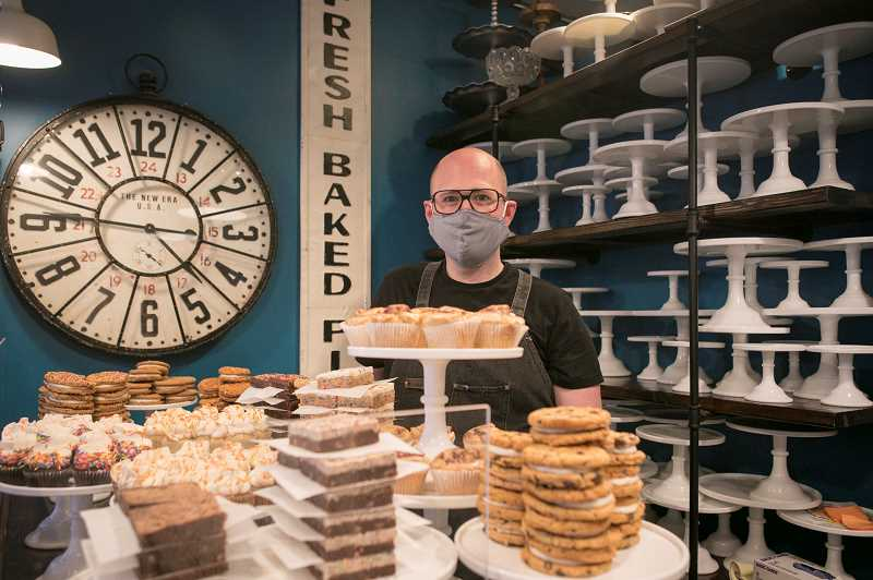 PMG PHOTO: JAIME VALDEZ - Alex Wilson, owner of the Hungry Hero Dessert Co. in Sherwood, believes in helping others, saying it provides him with a kind of therapy that makes him feel good.
