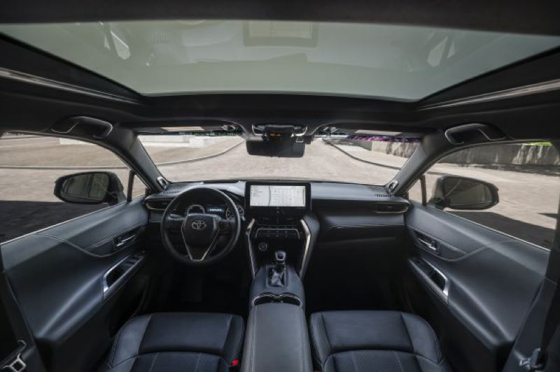 COURTESY TOYOTA - The large 12.5-inch screen in the 2021 Toyota Venza Limit can be configured into thirds to display a wealth of data.