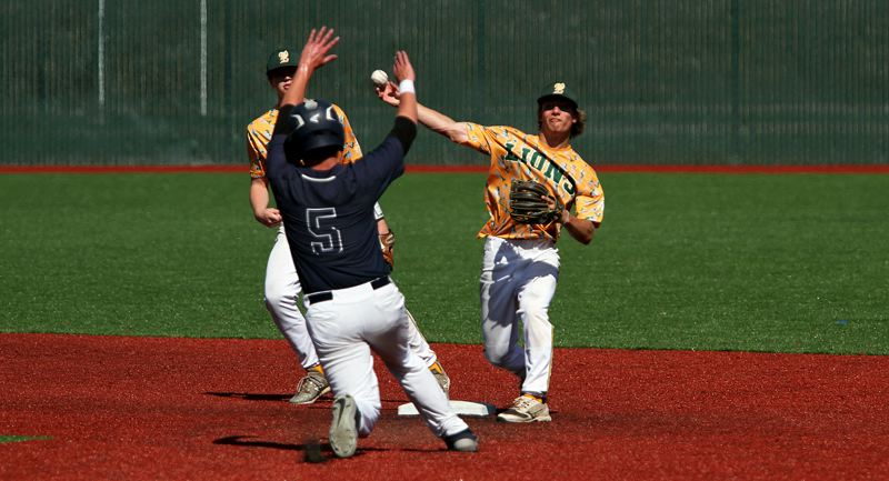 PMG PHOTO: MILES VANCE - West Linn senior infielder Caden Parker signed on to continue his athletic career and education at Clark College in Vancouver, Washington.