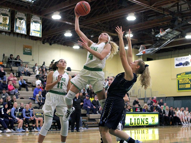 PMG PHOTO: MILES VANCE - West Linn senior Audrey Roden will continue her basketball career next year at the University of Nevada.