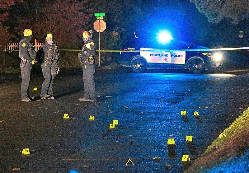 DAVID F. ASHTON - When this outer Inner Southeast Portland shootout had ended, on Woodstock Boulevard near 72nd, and the evening quiet had returned, arriving officers found the street littered with bullet casings, but no victims.