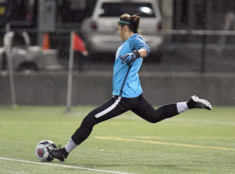 COURTESY PHOTO - Jesuit senior goalkeeper Olivia Juarez signed a National Letter of Intent on Wednesday, Nov. 11, to continue her soccer career and education next year at the University of Washington.
