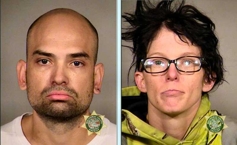 MCDC BOOKING PHOTOS - Although a judge released all six Felony charges against 35-year-old Benjamin Louis Hooper, at left, hes still in custody on a Parole Violation charge - but, released from her three Felony charges and set free was 37-year-old Jeanna Irene Swink, shown at right.
