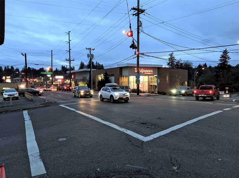 PMG PHOTO: COURTNEY VAUGHN - A stretch of Barbur Boulevard near Southwest Taylors Ferry Road is part of the West Portland Town Center plans that could see a boost in commercial and multi-family residential development.