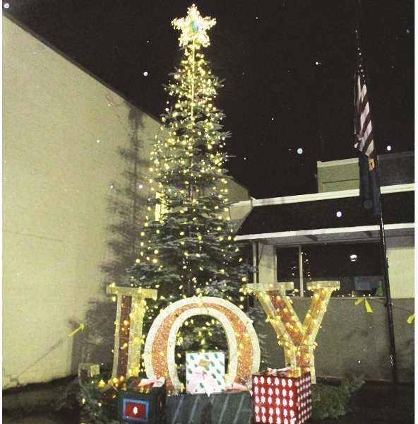 PMG FILE PHOTO - This year's tree lighting event in Molalla will be done virtually over Facebook. The event is being put on by the Molalla Area Chamber of Commerce in conjunction with a holiday parade.