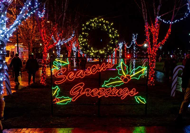 COURTESY PHOTO: CITY OF BEAVERTON - Due to fountain renovation at Beaverton City Park and the coronavirus pandemic, the traditional tree lighting will not take place this year. People will still have an opportunity to see various light displays throughout the city.