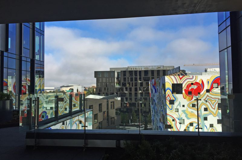 PMG PHOTO: BRIAN LIBBY - The Fair-Haired Dumbbell is in full view from one of the terraces at 5MLK.