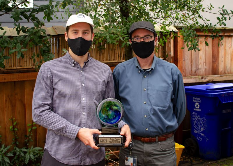 COURTESY PHOTO - Orchid Health co-founder Orion Falvey was honored as the Oregon Rural Health Hero of the Year.