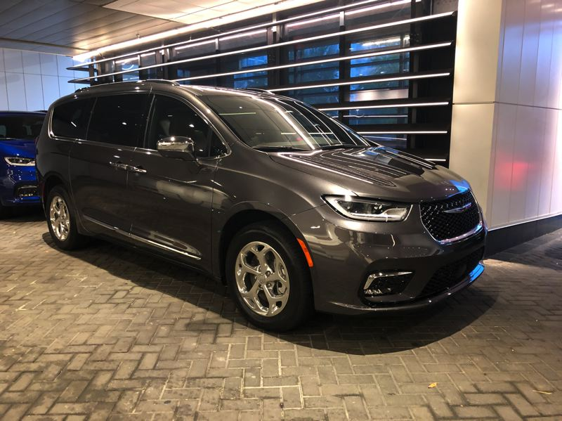 PMG PHOTO: JEFF ZURSCHMEIDE - The 2021 Chrysler Pacifica is now available with both Stow-n-Go rear seats that fold flat into the floor and optional all-wheel-drive because so many customers wanted it.