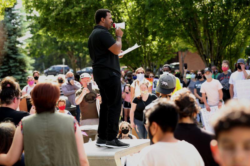 PMG FILE PHOTO - Hundreds protested police brutality in Wilsonville this summer.
