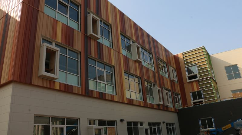 COURTESY PHOTO: PORTLAND PUBLIC SCHOOLS - Kellogg Middle School is nearing completion and will be open in the fall.