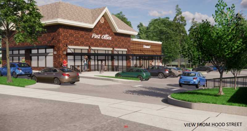 SCREENSHOT: WEST LINN PLANNING DEPARTMENT - Gramor Development plans to demolish the current post office building and construct a new building to be used by USPS or other retailers.