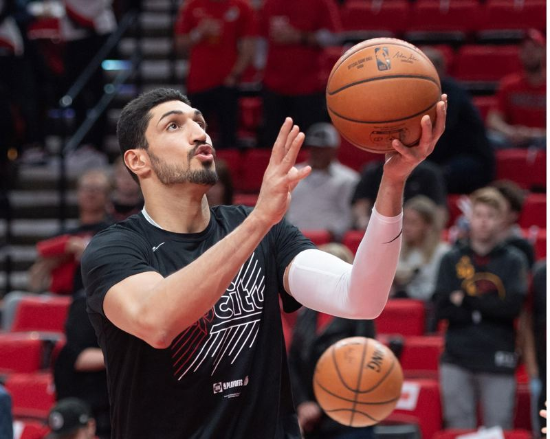 PMG FILE PHOTO: CHRISTOPHER OERTELL - Enes Kanter is returning to the Trail Blazers.