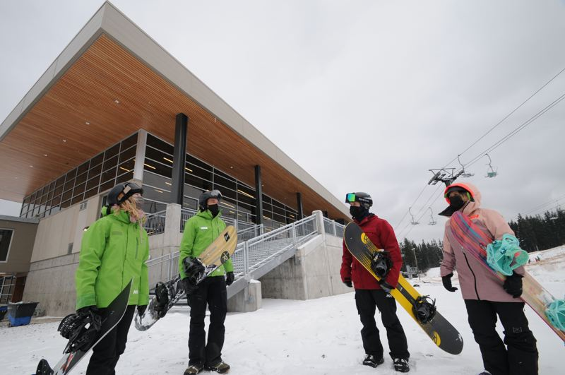 COURTESY PHOTO: MT. HOOD MEADOWS - Mt. Hood Meadows has taken extra measures to encourage distancing and mask-wearing at the resort.