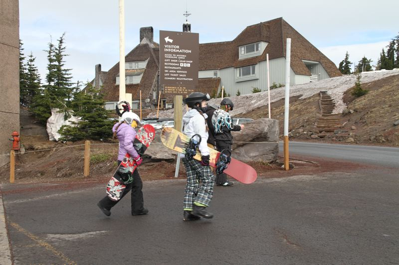 COURTESY PHOTO: TIMBERLINE LODGE AND SKI AREA - Timberline has been allowing visitors to ski and snowboard with precautions since reopening.
