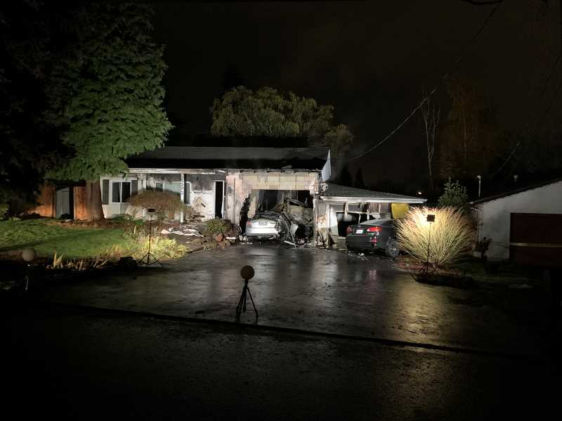 Deputies investigating house fire connected to speed racing crash