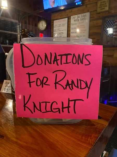 COURTESTY PHOTO: LYNNELLE MORGAN - The Over the Edge Taphouse collected $1,000 in one day to help Randy Knight pay medical expenses.