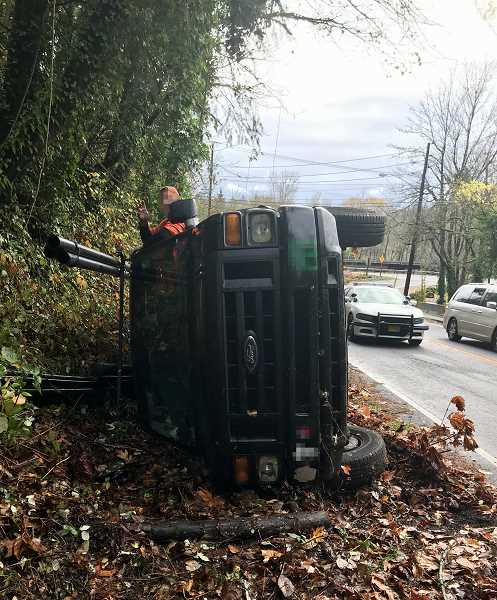 Man arrested for DUII after vehicle rolled over on Terwilliger Boulevard