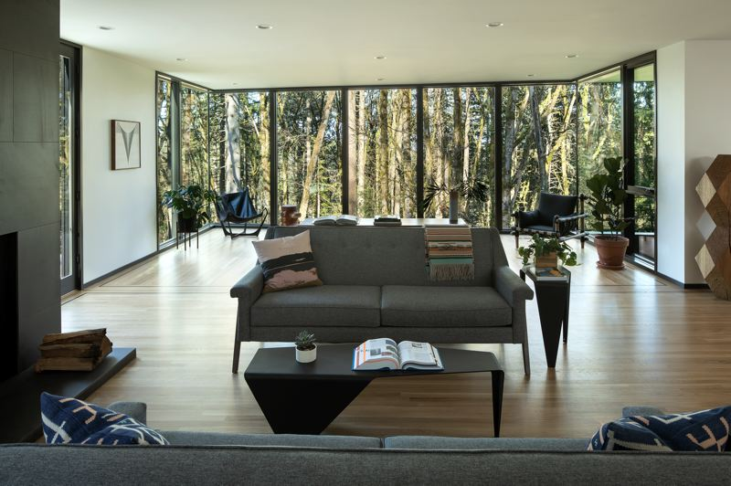 PHOTO: JEREMY BITTERMANN / JBSA - William / Kaven Architecture has won the 2020 Architecture MasterPrize for their Royal home project on Royal Boulevard in the West Hills, where the home is in the forest, and the forest is in the home.