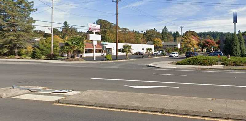 PHOTO COURTESY: GOOGLE MAPS - ODOT is planning to construct flashing beacons at Boardman Avenue along Highway 99E, where there is already a concrete median, but pedestrian deaths continue.