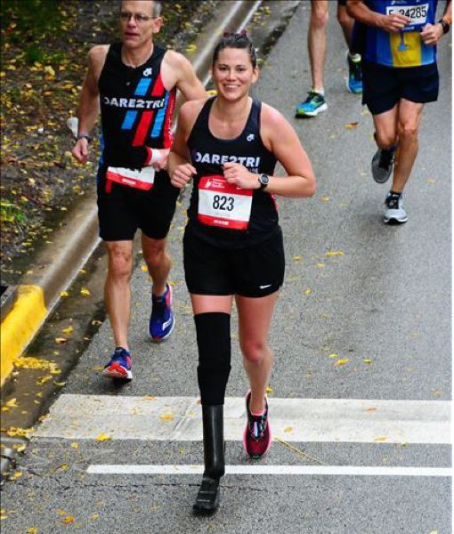 COURTESY PHOTO: KIMMIE CHAMPION - Kimmie Champion completed the 2018 Chicago Marathon and is hoping to attempt a triathlon in the future.