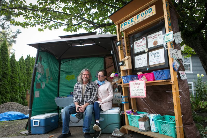 PMG PHOTO: JAIME VALDEZ - Last July, Tigard residents Tom and Ramona Peterson set up the Stone Soup Food Pantry for those in need.