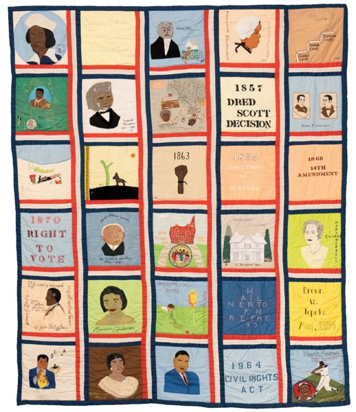 COURTESY OHS - The Afro-American Heritage Bicentennial Commemorative Quilt before it was damaged.