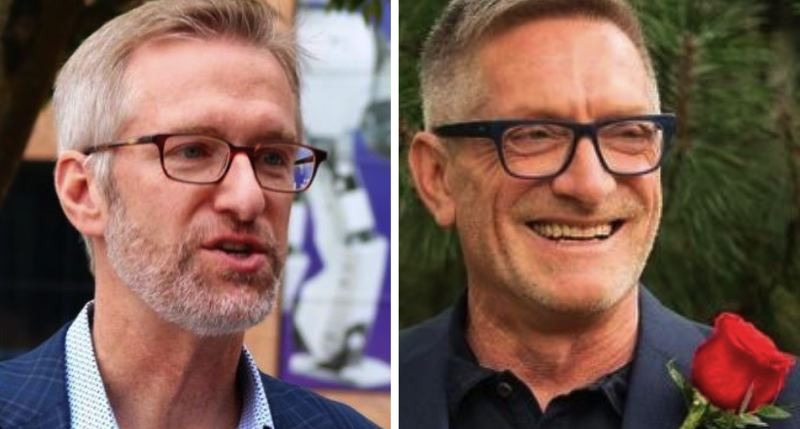 FILE - FROM LEFT: Portland Mayor Ted Wheeler and Commissioner Dan Ryan