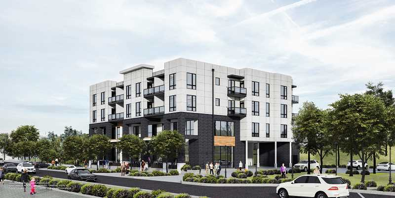COURTESY CITY OF TIGARD - Ava Roasteria is moving forward with plans to close on a city piece of property with plans to build a four-story, mixed use building that will include a headquarters for the coffee company as well as multi-family housing.