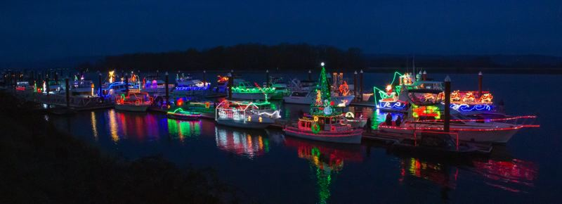 COURTESY PHOTO - The Christmas Ships Parade begins Dec. 4 on the Willamette and Columbia rivers.