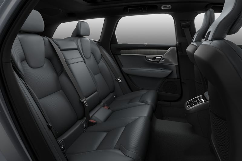 COURTESY VOLVO - Even rear seat passengers ride in comfort and style in the 2021 Volvo V90 Cross Country T6 AWD.