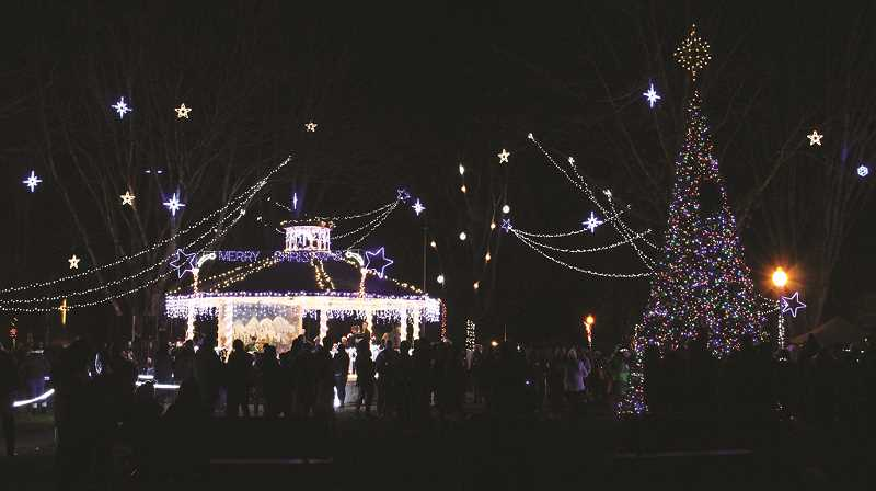 Christmas lighting event 'pared' down