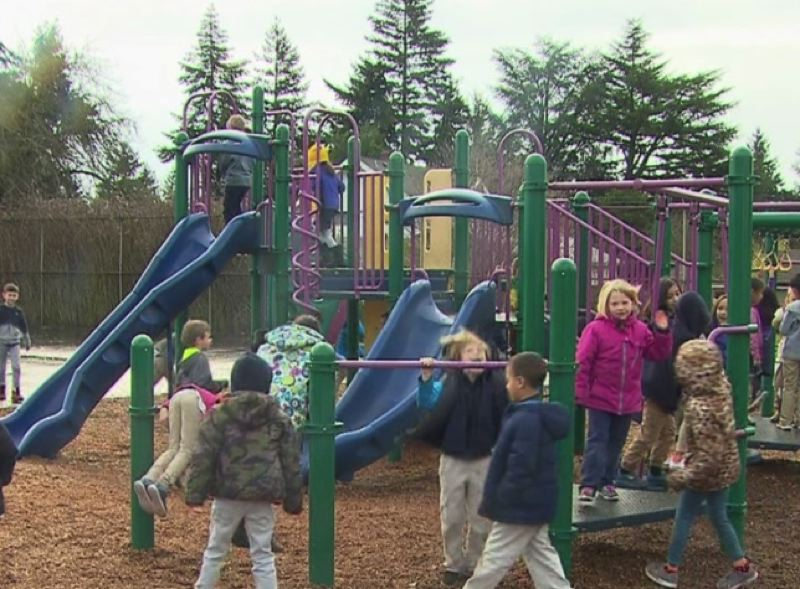 COURTESY PHOTO: KOIN 6 NEWS - Portland Public Schools has reopened its playgrounds (seen here in a pre-pandemic file photo), to give people more outdoor-play options during the pandemic.