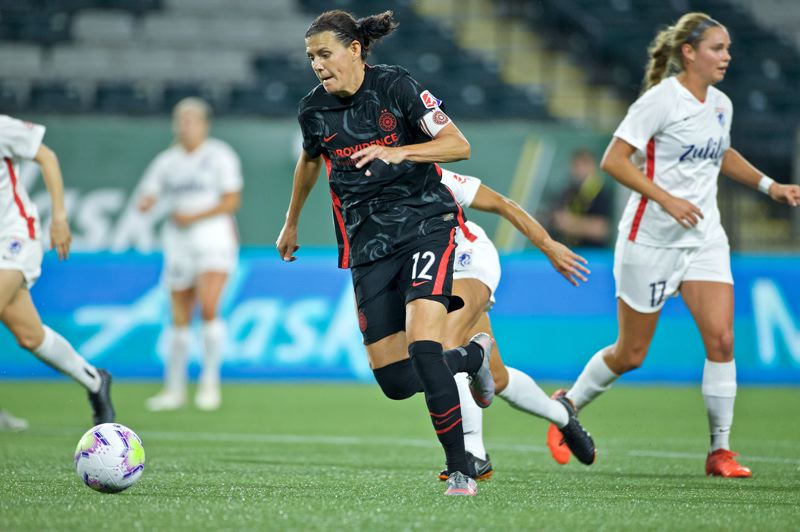 COURTESY PHOTO: THORNS FC/CRAIG MITCHELLDYER - Christine Sinclair showed no signs of slowing down in 2020, scoring six goals in four games during the NWSL Fall Series.