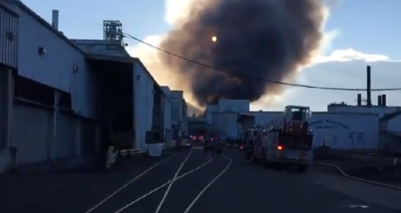 KOIN 6 NEWS - The scene of the fore at the Blue Heron mill on Saturday afternoon.