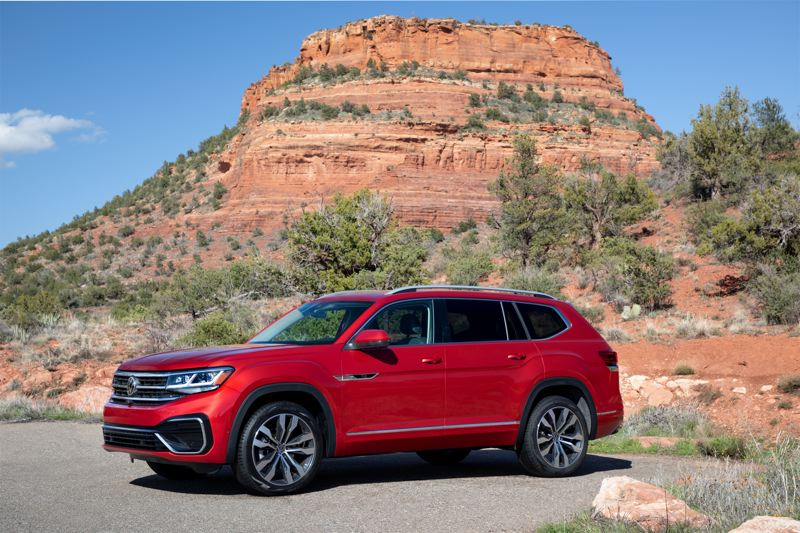 COURTESY VOLKSWAGEN - The 2021 Volkswagen Atlas is a midsize crossover SUV that can be ordered with your choice of two engines, front-whee-drive or all-wheel-drive, and enough trim levels to meet all needs.