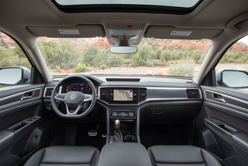 COURTESY VOLKSWAGEN - The interior of the 2021 Volkswagen Atlas is clean and simple, with easy to find and understand controls, and high quality materials.