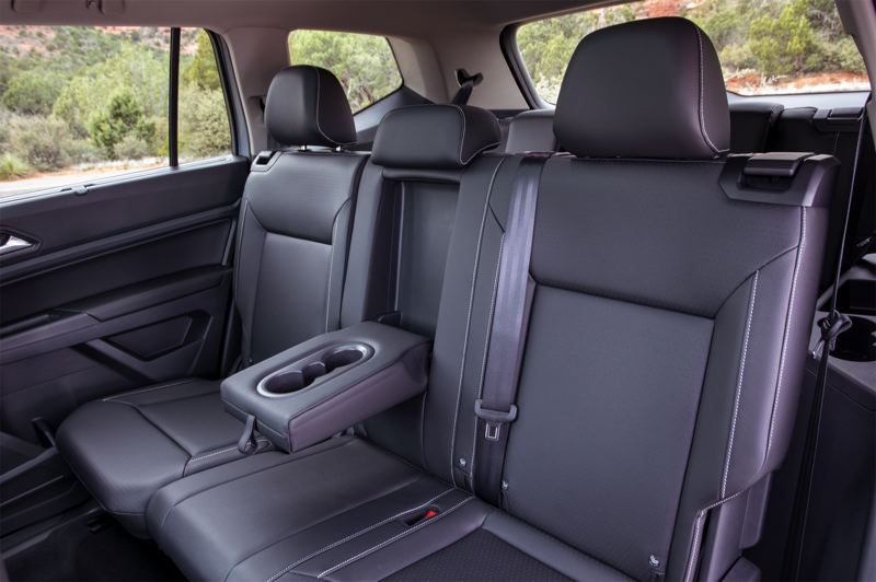 COURTESY VOLKSWAGEN - The second row of seats in the 2021 Volkswagen Atlas is large enough for three adults, and the third row behind it can hold two teenagers.