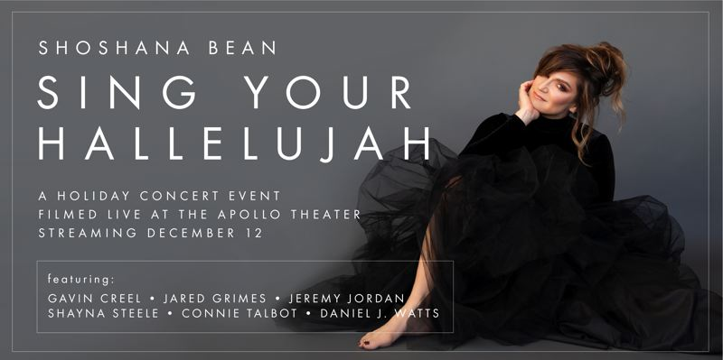 COURTESY PHOTO - Shoshana Bean presents a holiday concert streaming worldwide from the Apollo Theater in New York City this Saturday, Dec. 12.
