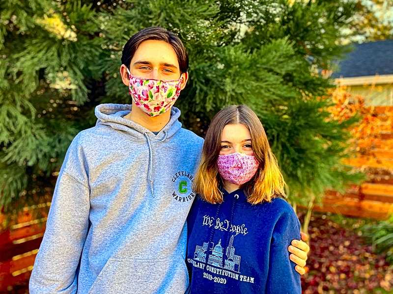 DAVID F. ASHTON - Cleveland High students Leo Marchyok and Sophie Jones are the co-creators of a free tutoring service for K-12 students - Spark Tutoring Collective.
