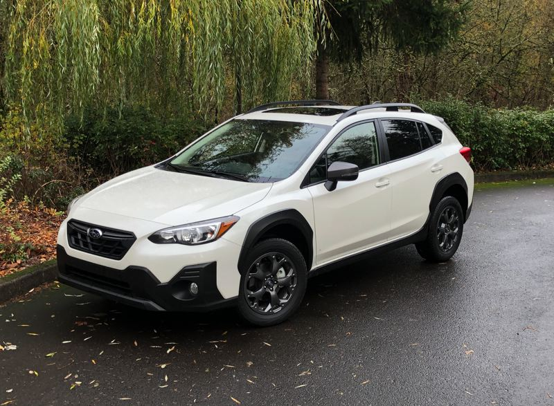 PMG PHOTO: JEFF ZURSCHMEIDE - The Subaru Crosstrek has always been a great choice for Pacific Northwest residents, but the 2021 version is even better with the more powerful 2.5-liter engine available in the Sport and Limited trims.