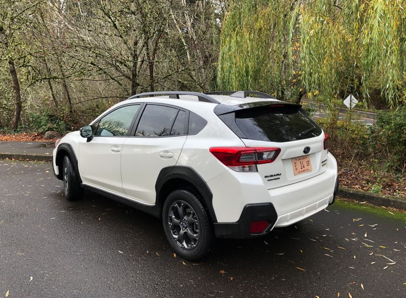PMG PHOTO: JEFF ZURSCHMEIDE - The hatchback design makes the 2021 Subaru Crosstek one of the most practical compact crossovers on the market.