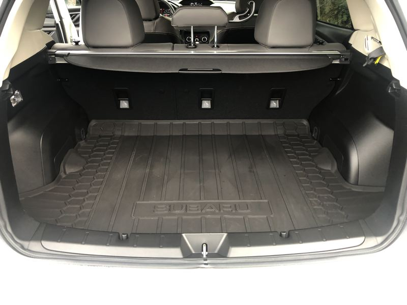 PMG PHOTO: JEFF ZURSCHMEIDE - There is plent of cargo space under the hatch of the 2021 Subaru Crosstrek, which is one of the best affordable wet weather and recreation vehicles available today.