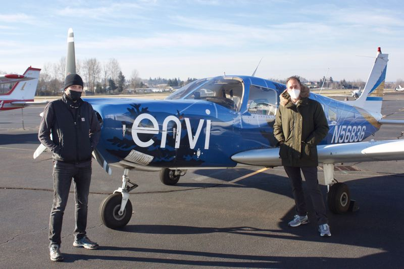 PMG PHOTO: CHRISTOPHER KEIZUR - Envi Adventures and Meals on Wheels teamed up to stuff a plane with gifts for homebound seniors.