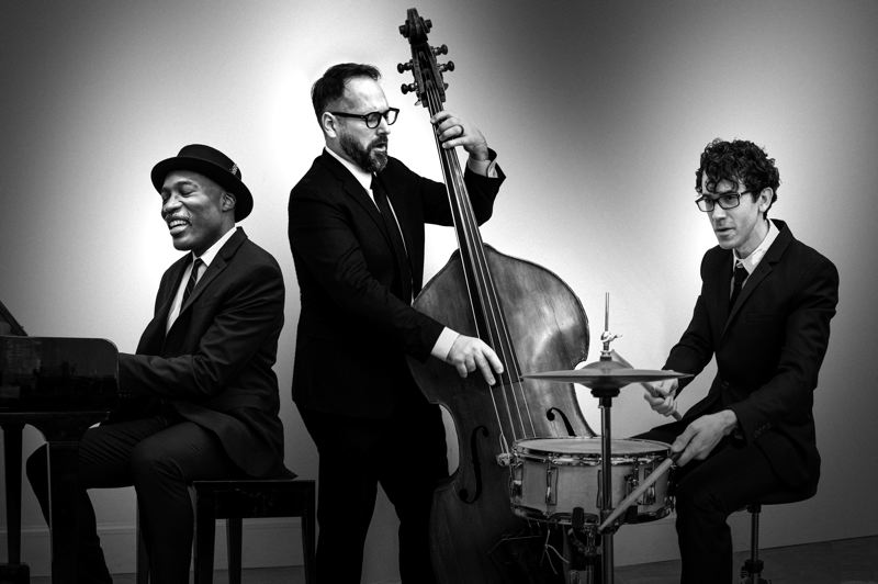 COURTESY PHOTO: REED RICKER - The Darrell Grant trio includes (from left) Grant, Eric Gruber and Tyson Stubelek. They'll play at 'The Cool Spot' online, Dec. 18.