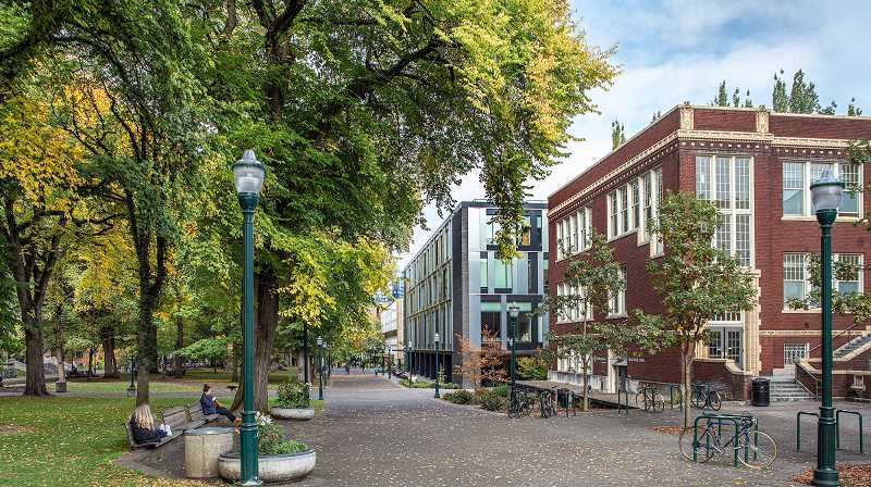 COURTESY PHOTO: PORTLAND STATE UNIVERSITY - Portland State University pictured here, has recently publicly affirmed its commitment to equity and support for racial justice. A former professor says she was pushed out after requesting to work entirely remotely following racist attacks in 2018 and 2019.