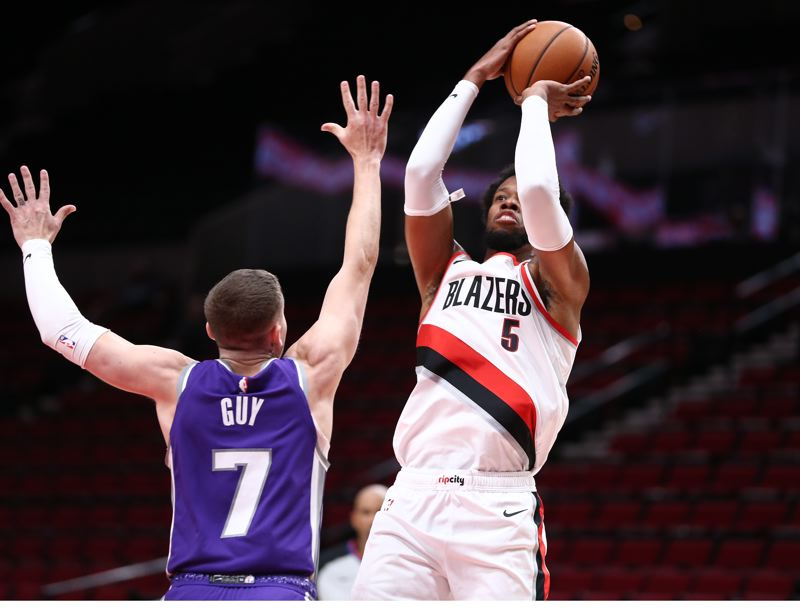 COURTESY PHOTO: BRUCE ELY/TRAIL BLAZERS - Rodney Hood returned to the Blazers' lineup in Sunday's exhibition loss to Sacramento.