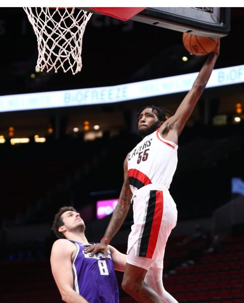 COURTESY PHOTO: BRUCE ELY/TRAIL BLAZERS - Derrick Jones Jr. brings athleticism and defense to Portland, but he has shown a good shooting touch.