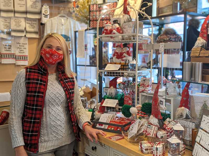 PMG PHOTO: COURTNEY VAUGHN - Petie Farkas, owner of Peachtree Gifts in Multnomah Village, has put more stock in marketing her business on social media. So far, its paid off.